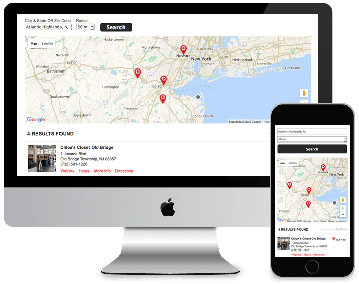 Bullseye Store Locator Software