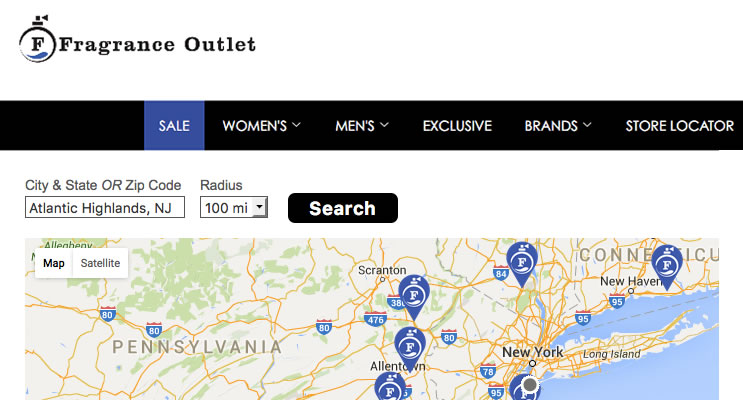 Fragrance Outlet Store Locator