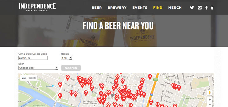 Independence Brewing Craft Beverage Store Locator