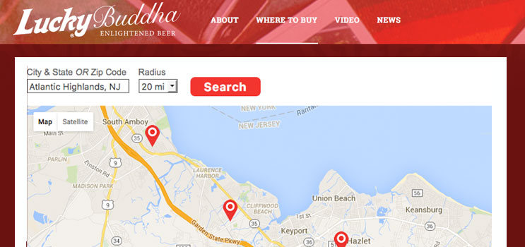 Lucky Buddha Craft Beverage Store Locator